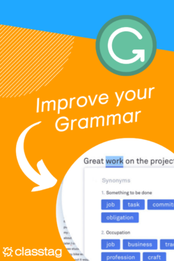 Improve your grammar with Grammarly