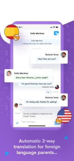 Classtag automatic 2-way language translation