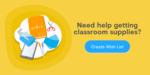 click to Create Wish Lists and get Free Classroom Supplies