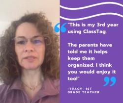 ClassTag keeps parent organized