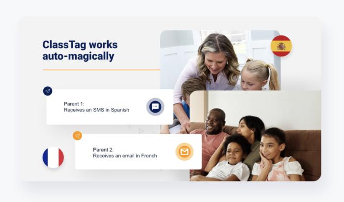 ClassTag Connect automatic language translation