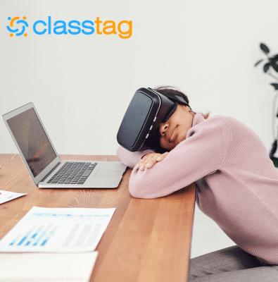 Student Using A Virtual Classroom