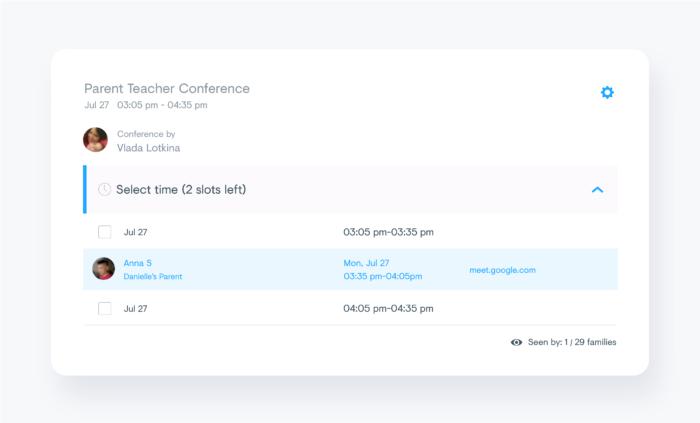 Connect parent teacher conferences